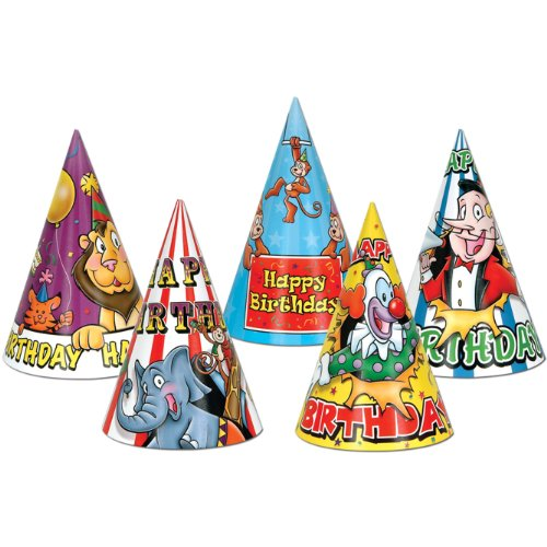 Circus Birthday Hats (asstd designs) Party Accessory  (1 count)