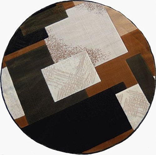 Contempo Modern Round Area Rug 5 Ft