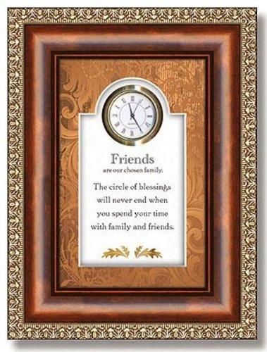 Christian Brands Hearfelt Collection Friends 3D Tabletop Clock Framed under Glass