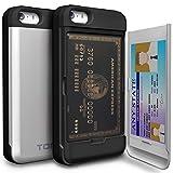 iPhoneSE ケース手帳型「人気」耐衝撃「カードホルダー」suica 「衝撃吸収」ミラー「TPUxプラスチック」スタンド「アイフォン5sケース」アイフォン5ケース「スマホケース」おしゃれ 「TORU」-シルバー