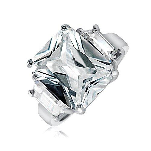 Bling Jewelry Sterling Silver Kim Kardashian stile CZ Anello di fidanzamento