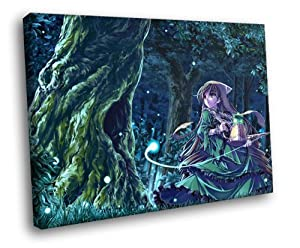 HD5630 Rozen Maiden Suiseiseki Magic Forest Girl Anime Art 16x12 FRAMED CANVAS PRINT