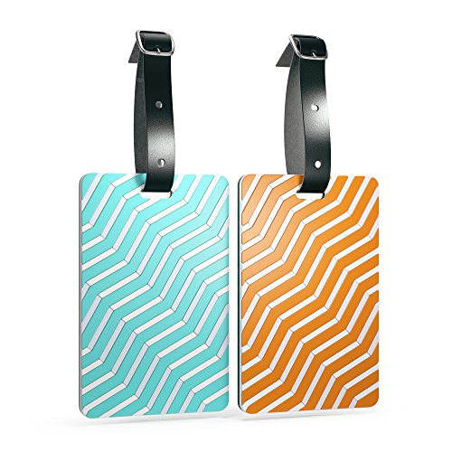 shacke-luggage-tags-with-genuine-leather-strap-set-of-2-orange-blue-lines