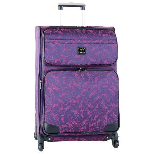 Diane Von Furstenberg Luggage Signature 28 Inch Expandable Spinner, Denim/Fuschia, One Size best offers