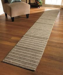 Extra-long Nonslip Striped Runners 60\'\' 90\'\'\' 120\'\' (Sand, 120\'\')