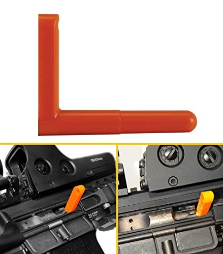 Ultimate Arms Gear .308 Caliber Empty Chamber Non-Ejectable Safety Flag Load Indicator Device Polymer Orange Dummy Ammunition Ammo Shell Round with Lanyard String Loop Hole to Attach onto Rife Shotgun Pistol Handgun (Chamber Plug compare prices)