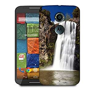 Snoogg White Waterfall Designer Protective Phone Back Case Cover For Moto X 2nd Generation