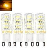 Bonlux G9口金 電球 省エネ電球40W相当消費電力4W G9 400lm LEDライト LEDランプ 発光角度360 AC110V 調光器対応 4個セット (電球色)