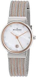 Skagen Analog Mother of Pearl Dial Womens Watch 355SSRS