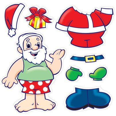 75 - Make Your Own Santa Stickers