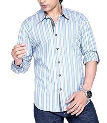 Moksh Men's Striped Casual Shirt V2IMS0414-19 (X-Large)