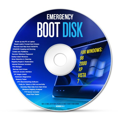 Emergency Recovery Boot Disc for Windows XP,