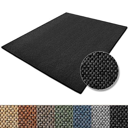 tapis-de-salon-noir-casa-purar-effet-sisal-polypropylene-coton-chambre-couloir-7-couleurs-et-5-taill