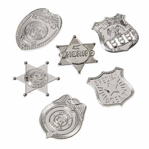 Mini Silver Badges, 72 Pieces