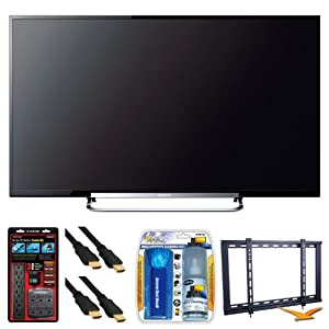 """Sony KDL-70R520A 70"""" LED 240Hz Internet HDTV Wall Mount Bundle - Includes TV, Ultra Slim TV Wall Mount, Home/Office Surge Protector Power Kit, 2 6 ft High Speed 3D Ready 120hz 1080p HDMI Cables, and LCD Screen Cleaning Kit"""