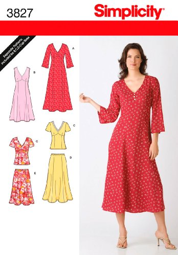 Simplicity+Sewing+Pattern+3827+Miss%2FPlus+Size+Dresses%2C+AA+%2810-12-14-16-18%29