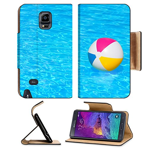 MSD Premium Samsung Galaxy Note 4 Flip Pu Leather Wallet Case IMAGE ID 30943046 Inflatable colorful ball floating in the swimming pool