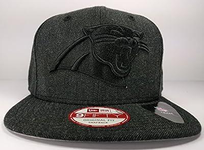 New Era Carolina Panthers Heather Basic Adjustable Snapback Hat Cap NFL
