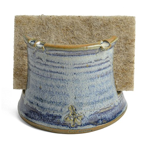 Anthony Stoneware Sponge Holder, French Blue (Pottery Kitchen compare prices)