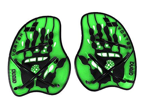 Arena Schwimm-Trainingsgerät Trainingstool Vortex Evolution Hand Paddle, Acid-Lime/Black, M, 95232