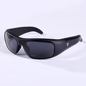 GoVision Apollo 1080p HD Camera Glasses Water Resistant Video Recording Sport Sunglasses - Black (Color: Black)