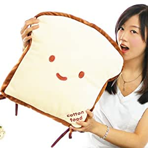 New a Slice of Bread Plush Cushion Pillow for Floor Chair Decoration Good Gift for Every Special Day