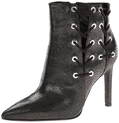 Nine West Women's Oxtane Metallic Boot,Black,5 M US