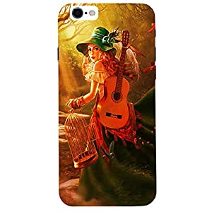 Cute Musician Girl - Mobile Back Case Cover For Apple Iphone 6S