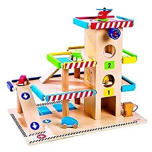 janod 05715 jouet en bois garage jeux et jouets. Black Bedroom Furniture Sets. Home Design Ideas