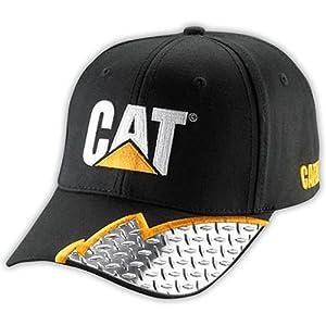 Caterpillar CAT Visor Diamond Plate Embroidered Cap from BDA