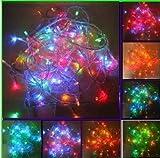 LEMONBEST Color Changing Starry Lights - RGB 10M 100 LED Fairy String Lights for Bedroom Christmas Home Garden Wedding