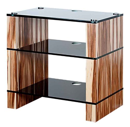 Cheap BLOK STAX DeLuxe 300 Three Shelf Satin Walnut Hifi Audio Stand & AV TV Furniture Rack Unit (B008AHJ5CO)