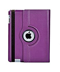AE 360 Rotating PU Leather Stand Case Cover For Apple ipad Air 5th Gen New Purple