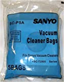 Sanyo SC-P5A Canister Vacuum Cleaner Bags - Generic - 5 pack