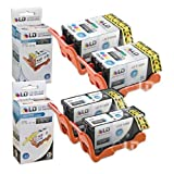LD Compatible Set Of 4 (Series 23) High Yield Black & Color Ink Cartridges For The Dell V515w Printer: 2 Black...