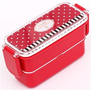 red thanks dots and stripes bento box lunch box toys games. Black Bedroom Furniture Sets. Home Design Ideas