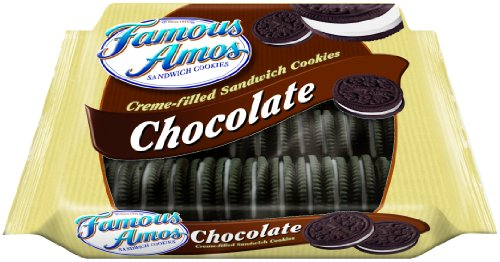 Famous Amos Chocolate Sandwich Cookies, 14-Ounce (Pack of 6)