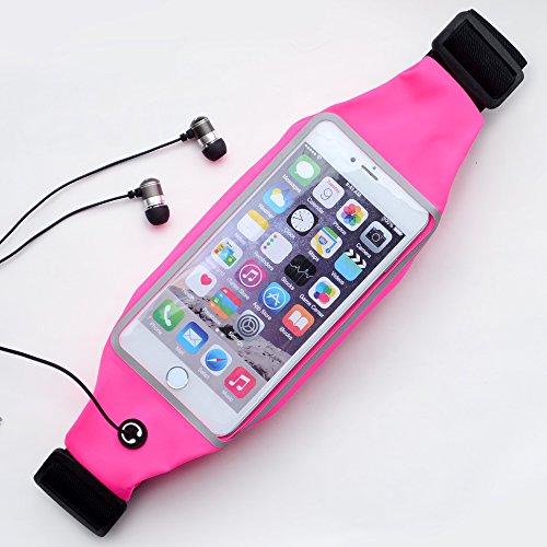 【tocotabi】iPhone6plus対応!音楽が聞ける軽量&伸縮ランニングポーチ/スポーツポシェット (ピンク)