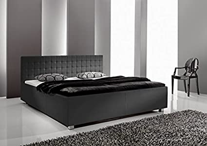 Bett Doppelbett Polsterbett 49197940 schwarz 180x200 cm Kunstleder