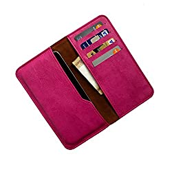 i-KitPit : PU Leather Wallet Flip Pouch Case For Lava Xolo Q1010 (PINK)