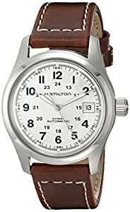 Hamilton Men's HML-H70455553 Khaki Field Stainless Steel Automatic Watch with Brown Leather Band