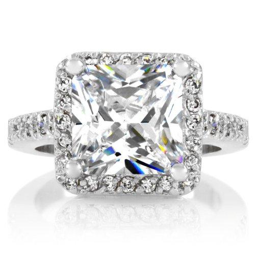 Rian's 5 Carat Princess Cut Engagement Ring