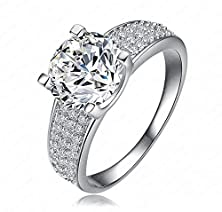 buy Bbx Jewelry Alloy White Round Zircon Women'S Wedding Rings, Size 6 7 8