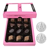 Chocholik - Lovely Delicious Chocolates With 5gm X 2 Pure Silver Coins - Gifts For Diwali