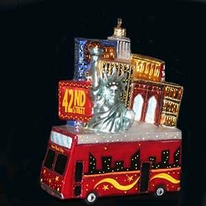 Kurt Adler Polonaise New York Tour Bus Ornament