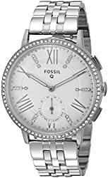 Fossil Q Gazer Analog Silver Dial Womens Watch-FTW1105
