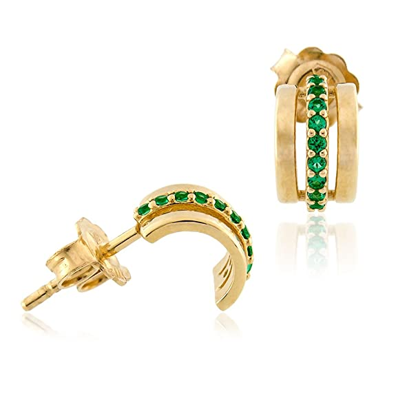 Gioiello Italiano - 18kt yellow gold earrings