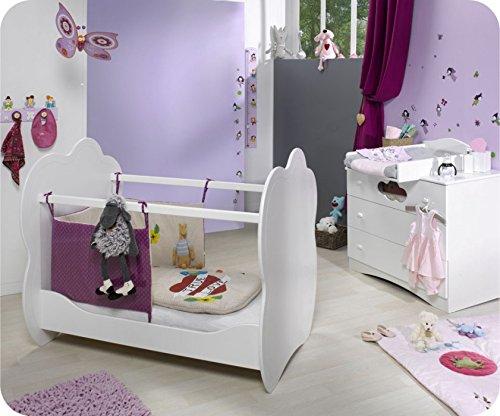 Mini Babyzimmer Altea weiß mit Wickelfläche