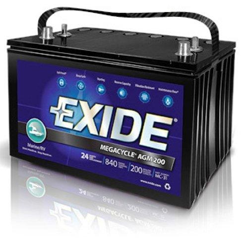 Exide Xmc 31 Megacycle Agm 200 Sealed Maintenance Free