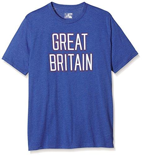 Under Armour Maglietta a maniche corte da uomo GBR Triblend, grafica, Uomo, Gbr Triblend Short Sleeve, American Blue, XL
